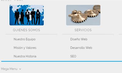 Crear mega menu con imágenes en Divi sin usar plugins